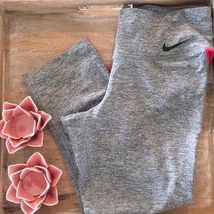 Nike Dri-fit small Heather grey & pink Capri